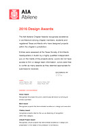 AIA Abilene Design Award Presentation Boards